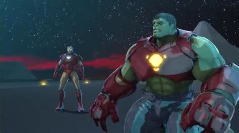marvel ironman and hulk in film top 7 marvel animated movies nerds on the rocks