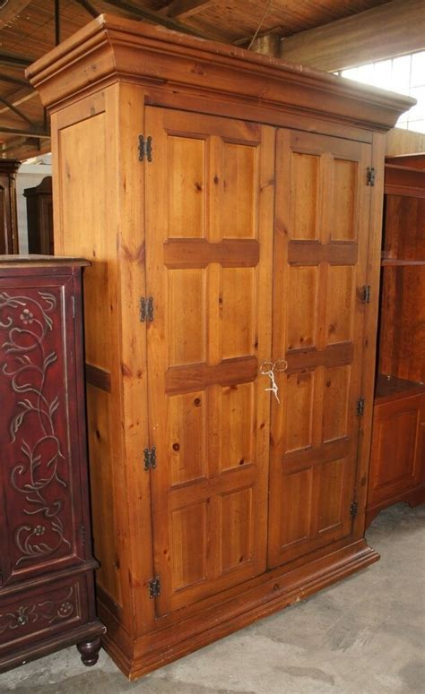 Bedroom Set With Wardrobe Closet - 1 distressed furniture pine 2 door bedroom armoire tv