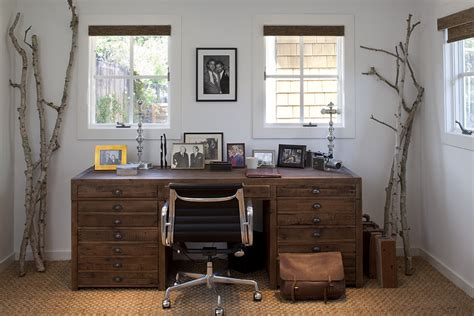 Newport Country Style Home Office Cozy Workspaces Home Offices With A Rustic Touch