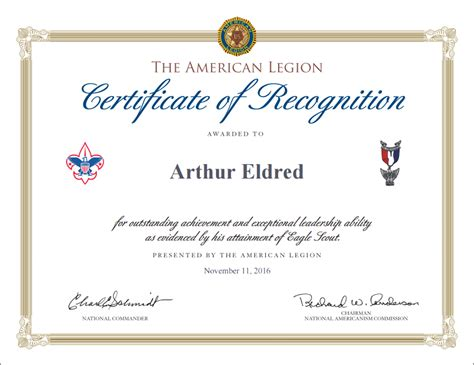 eagle scout certificate template eagle scout recognition certificates