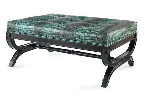 crocodile ottoman fashionably sophisticated but hardly tame this crocodile