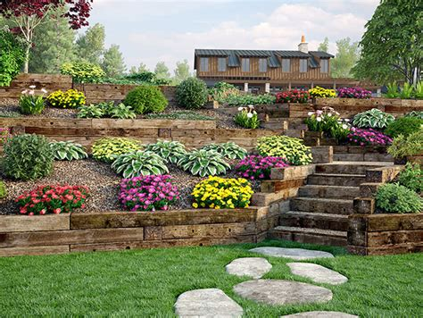 Railroad Tie Landscaping Ideas Use Outdoor Essentials Railroad Ties For Decorative Landscaping Retaining Walls Edging And