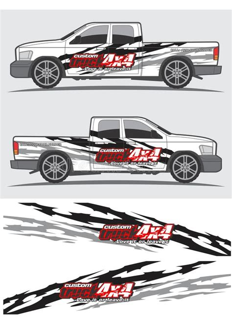 Car Design Sticker Vector Graphics by Truck And Vehicle Decal Graphic Design Stock Vector