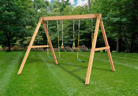 free swing sets free standing swing beam with swings diy kit