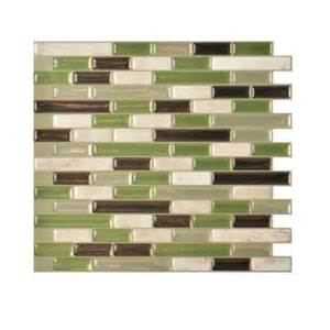 Peel And Stick Backsplash Home Depot Smart Tiles Muretto Eco 10 20 In X 9 10 In Peel And