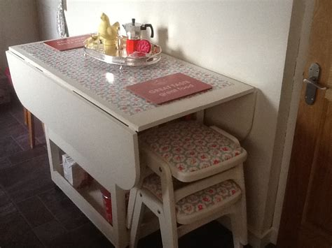 Drop Leaf Table With Chair Storage Adorable Drop Leaf Table With Chair Storage Homesfeed
