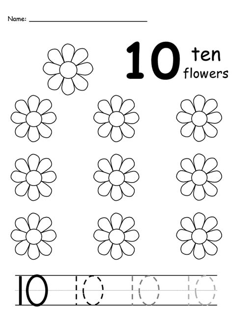 numbers 1 10 exercises printable number 10 worksheets activity shelter