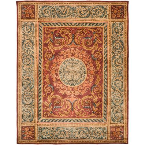 Burgundy Area Rugs 8 X 10 Safavieh Empire Burgundy Gold 8 Ft X 10 Ft Area Rug Em421a 8 The Home Depot