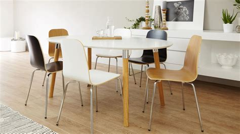 6 Seater Matt White Dining Table Oak And Chrome Legs Uk Six Seater Dining Table