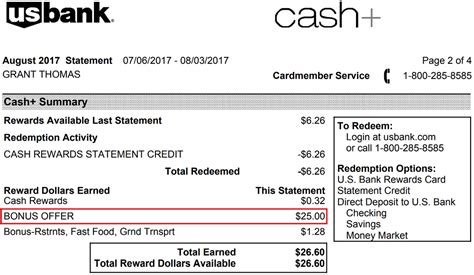 section 25 statement mysterious 25 cash bonus offer posted to my us bank cash