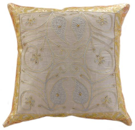 Embroidered Pillow Cover by Ornamental Embroidered Throw Pillow Cover Set Of 2
