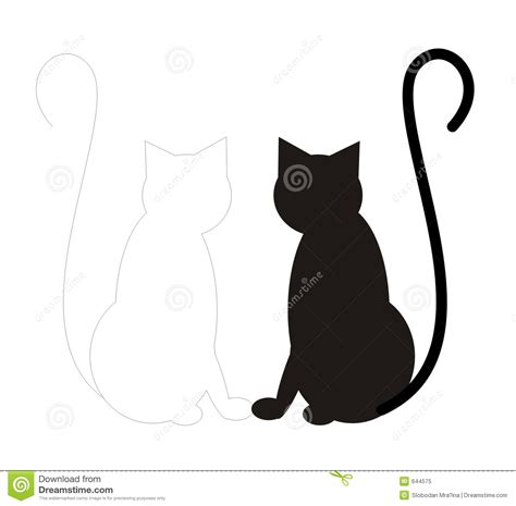 imagenes libres de royalties black cat white cat stock illustration illustration of