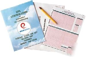 epa section 609 epa section 609 motor vehicle a c prep manual and exam