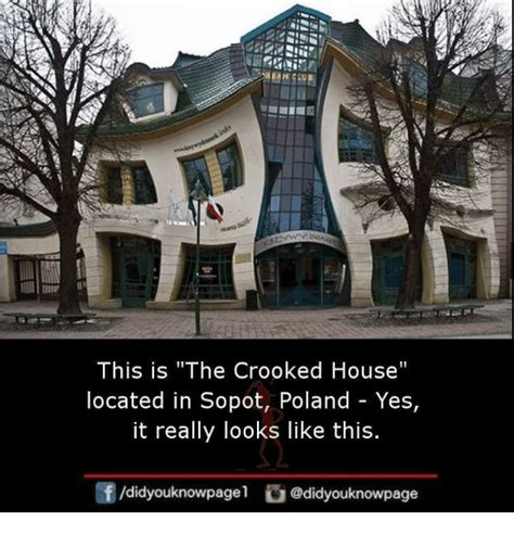 this is what a real house looks like what the flicka this is the crooked house located in sopot poland yes it