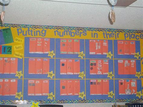 how to make a place board for place value bulletin board bulletin board ideas