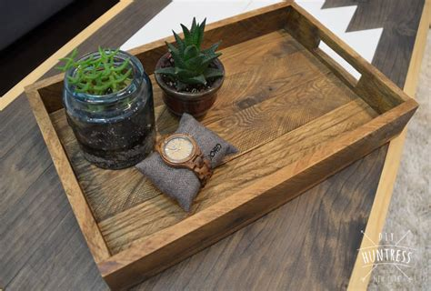 diy tray diy reclaimed wood tray west elm knockoff diy huntress