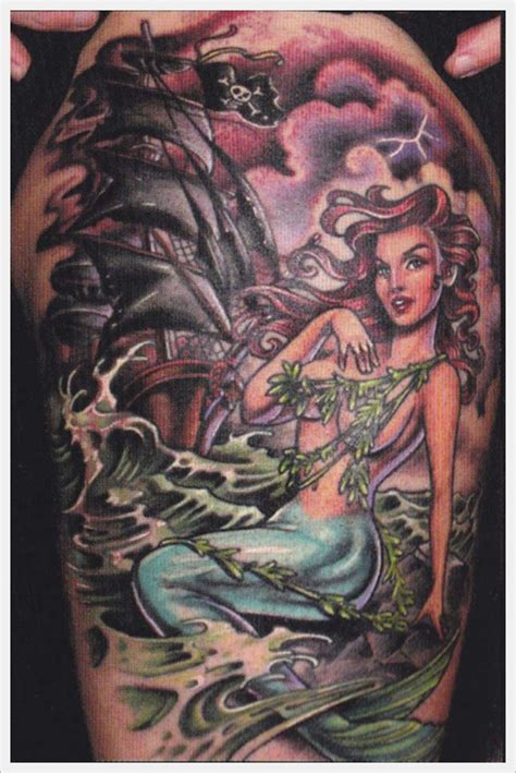 pinup mermaid tattoo 55 beautiful exles of mermaid tattoos