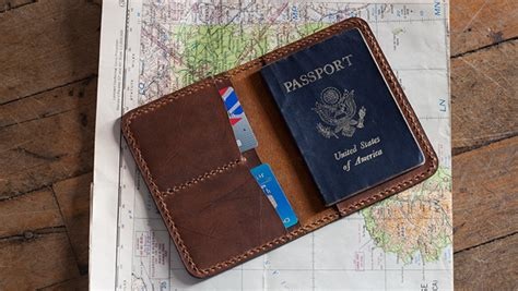 Leather Passport Cover Template   Build Along Video