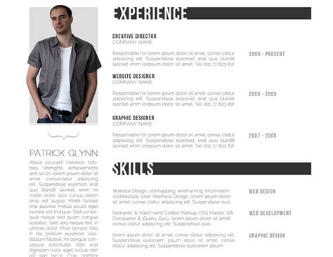 Best Looking Resume Templates by 28 Free Cv Resume Templates Html Psd Amp Indesign Web