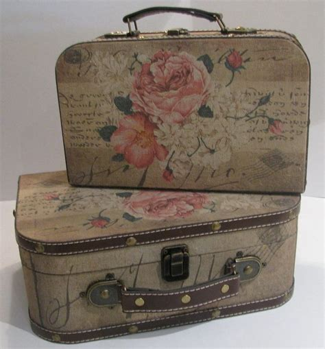 Decoupage Vintage Suitcase - 105 best images about maletas on suitcase set