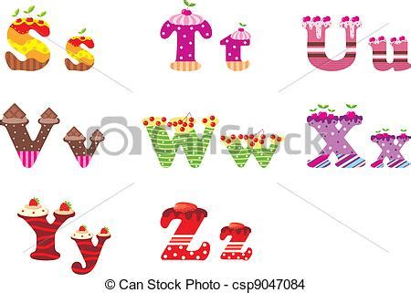 sweet up letters eps vector of sweet letters of the alphabet vector
