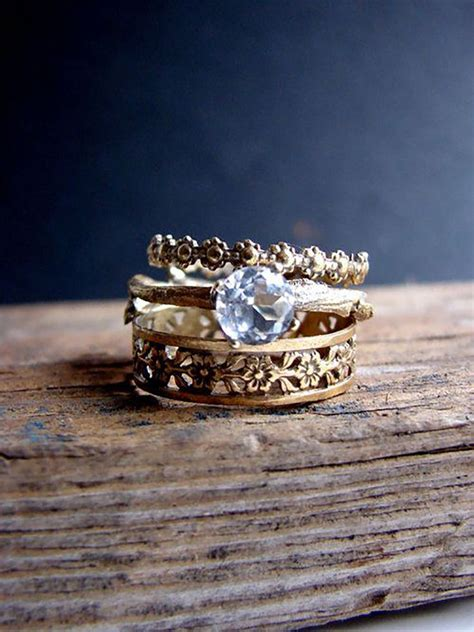 1000 ideas about stacked wedding bands on