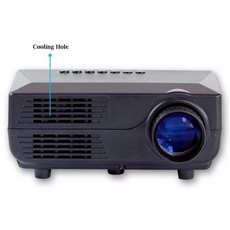 Proyektor Mini proyektor mini led 60 lumens 480p with tv receiver vs311 black jakartanotebook