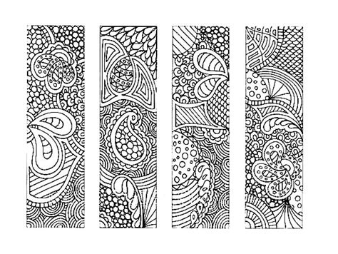 printable bookmarks black and white free coloring pages of bookmarks to colour in