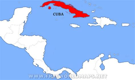 cuba on the world map where is cuba located on a map