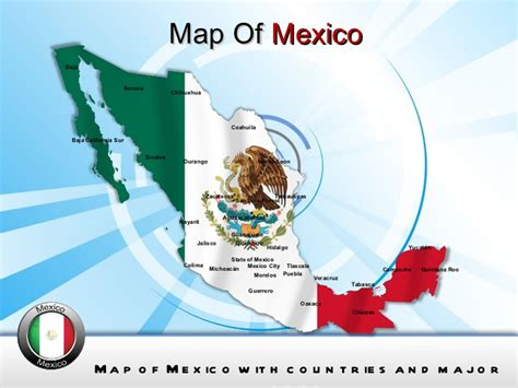 mexico map powerpoint ppt templates interactive mexico