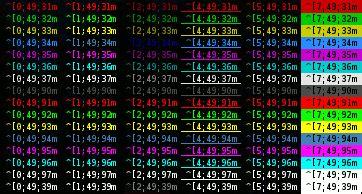 bashe color linux terminal color csdn博客