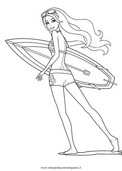 coloring pages of barbie surfing barbie surfer coloring coloring pages barbie surfing