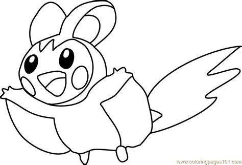 pokemon coloring pages emolga emolga pokemon coloring page free pok 233 mon coloring pages