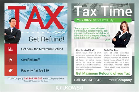 tax service flyers bundle flyer templates on creative market