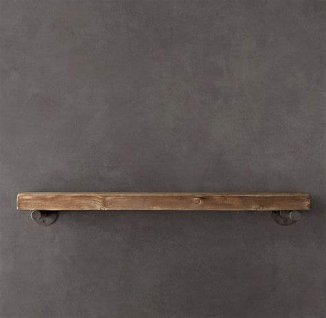 reclaimed wood wall shelf emc