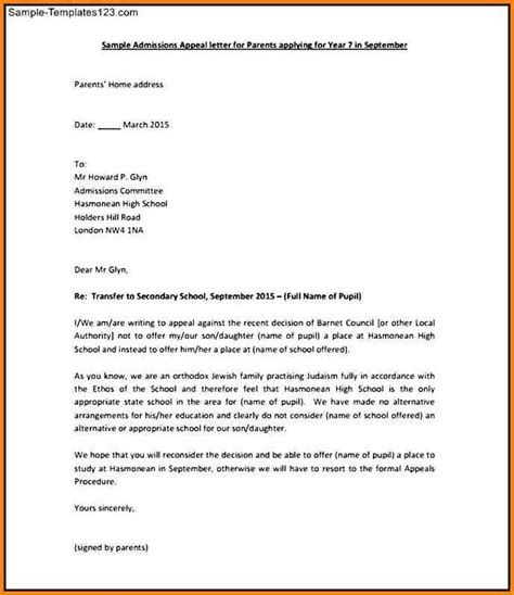 Appeal Letter Against Transfer Letter Of Reconsideration Format Best Template Collection