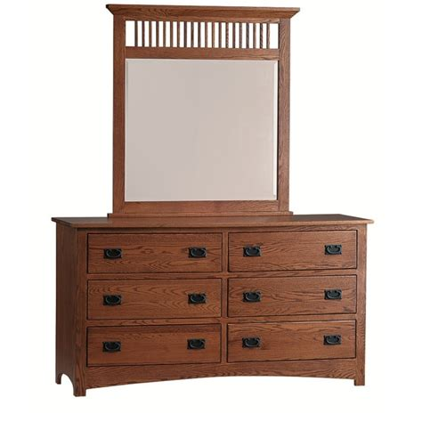 Country Mission Mule Dresser Mirror - mission large dresser mirror amish made dresser