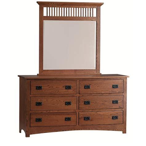 mission large dresser mirror amish made dresser