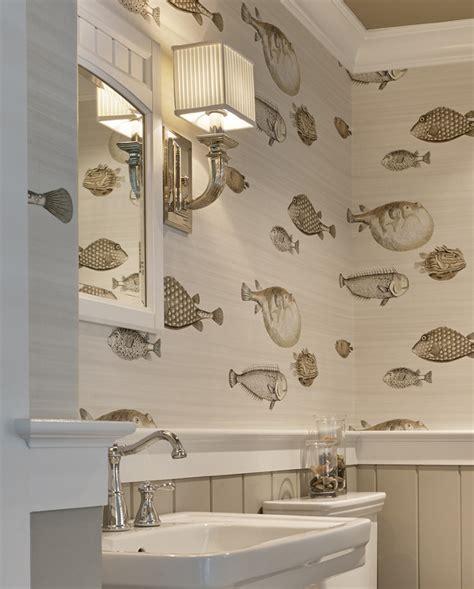 fish wallpaper for bathroom seaside shingle coastal home bell custom homes
