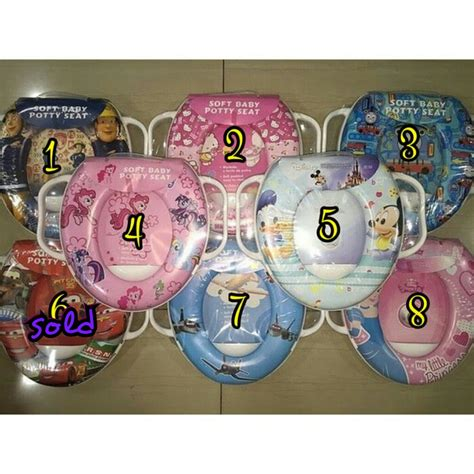 Dudukan Toilet Soft Potty Seat With Handle Ring Closet 1 jual soft potty seat ring closet karakter with handle