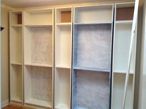 how to make billy bookshelves look built in organizing