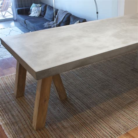 Concrete Dining Table Top New Ideas Concrete Table Top Matt And Jentry Home Design