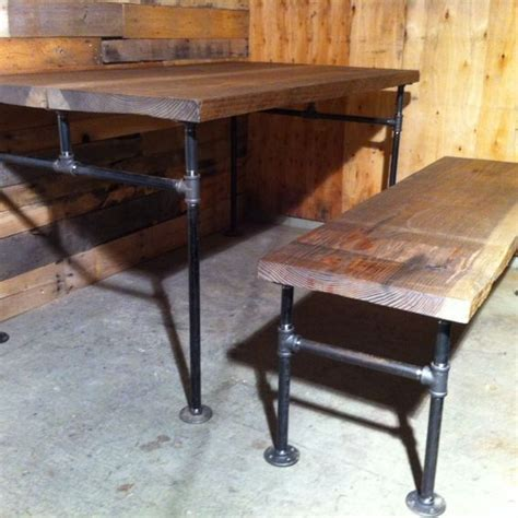 Pipe Dining Table Custom Made Industrial Cast Iron Pipe Douglas Fir Dining Table By J S Reclaimed Wood Custom
