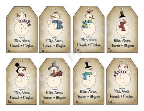printable snowman tags printable mr snowman gift tags holiday gift tag by
