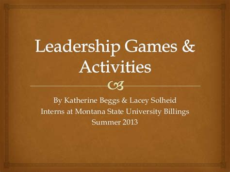 leadership and activities