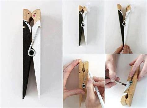 Handmade Wedding Gifts For And Groom - diy wedding favor made from peg handmade and groom