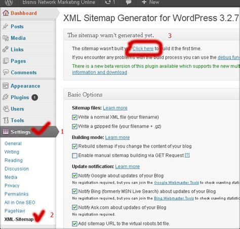 membuat sitemap xml wordpress cara install dan setting plugin google xml sitemap