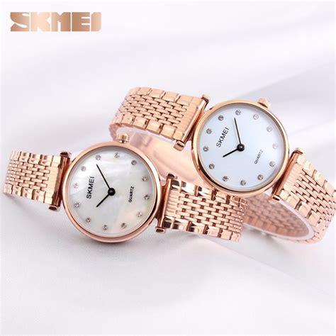 Jam Tangan Wanita Skmei 1133 skmei jam tangan analog wanita 1223c gold