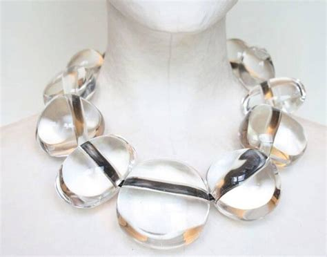 how to make acrylic jewelry monies clear acrylic bead necklace at 1stdibs