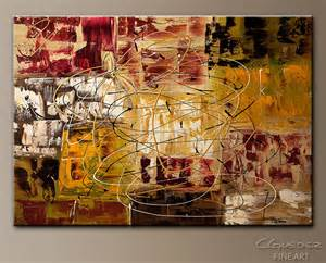 New world abstract art paintings modern large abstract art painting